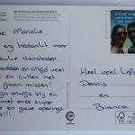 bedankje Dennis en Bianca